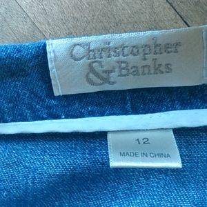Christopher & Banks Skirts - Jean Skirt